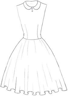 Langkah 1. Cara mudah menggambar Long Dress Motif Bunga