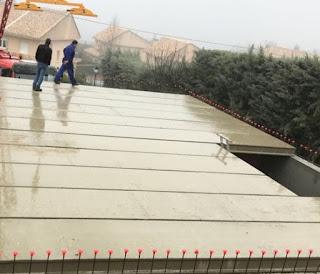 imagen de un forjado en cubierta en Madrid