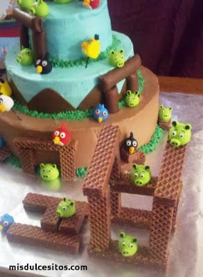 Tortas Angry Birds. Venta de tortas personalizadas en todo Lima. Venta de tortas temática Angry Birds