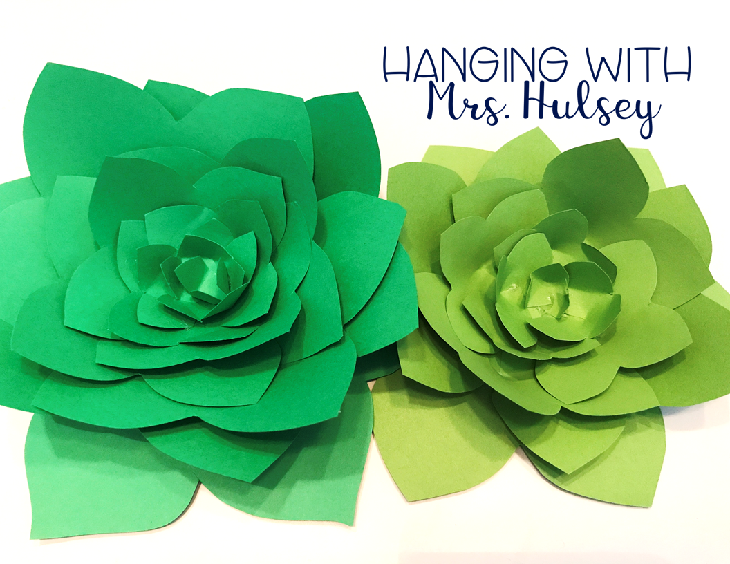 Diy Paper Succulents Hanging With Mrs Hulsey