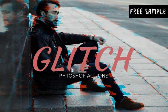 Photoshop Action Glitch Gratis