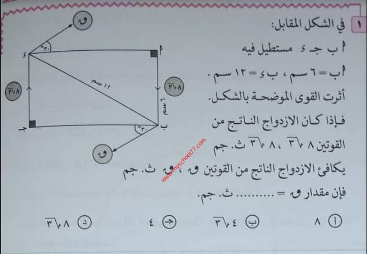 امتحان الاستاتيكا للصف الثالث الثانوى 2021