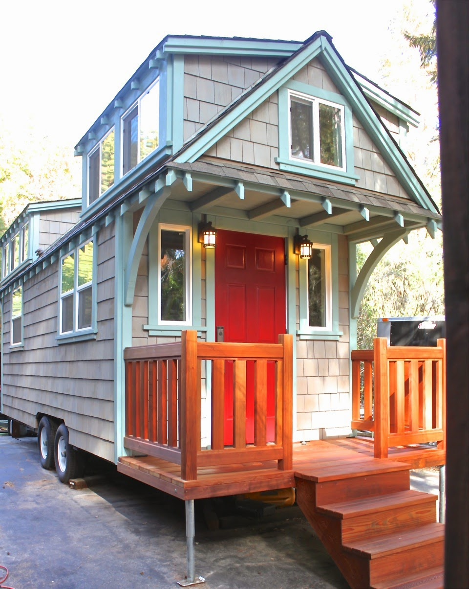Tiny house town craftsman bungalow from molecule tiny homes for Craftsman style bungalow homes