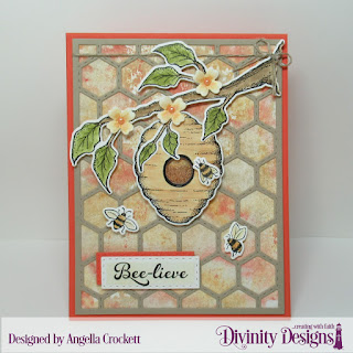 Stamp/Die Duos: Bee-lieve Custom Dies: Quilted Honeycomb Background, A2 Portrait Card Base with Layer, Matting Rectangle, Double Stitched Rectangles, Ornamental Crosses
