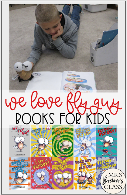 Fly Guy series book study units with Common Core aligned literacy activities for First Grade and Second Grade