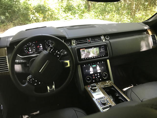 Interior view of 2019 Range Rover 3.0 liter Td6