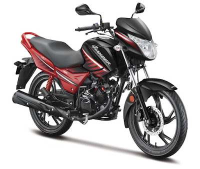 All New 2017 Hero Glamour Red Colour Image