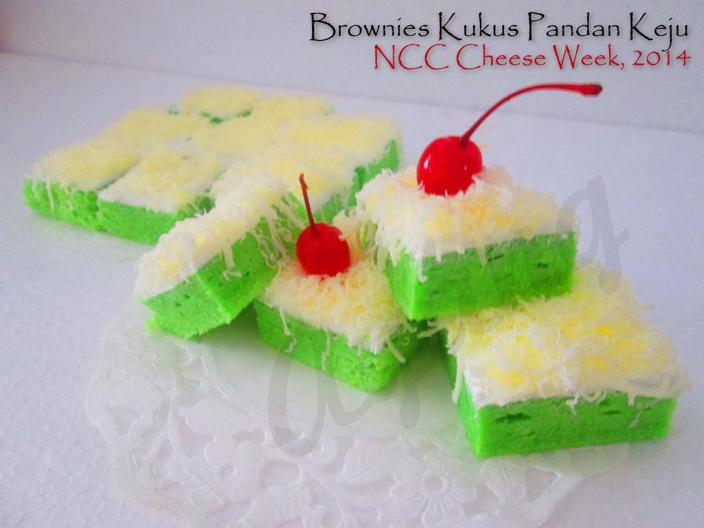 Resep Cake Kukus Keju Ncc: Brownies Kukus Pandan Keju By Ayang