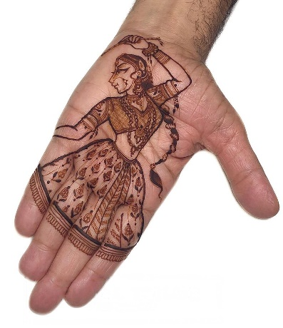Navratri Special Mehndi Design for front hand