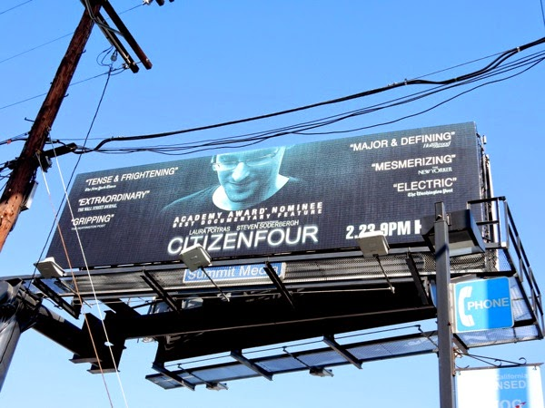 Citizenfour documentary Oscar billboard