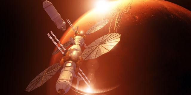 planet mars flight