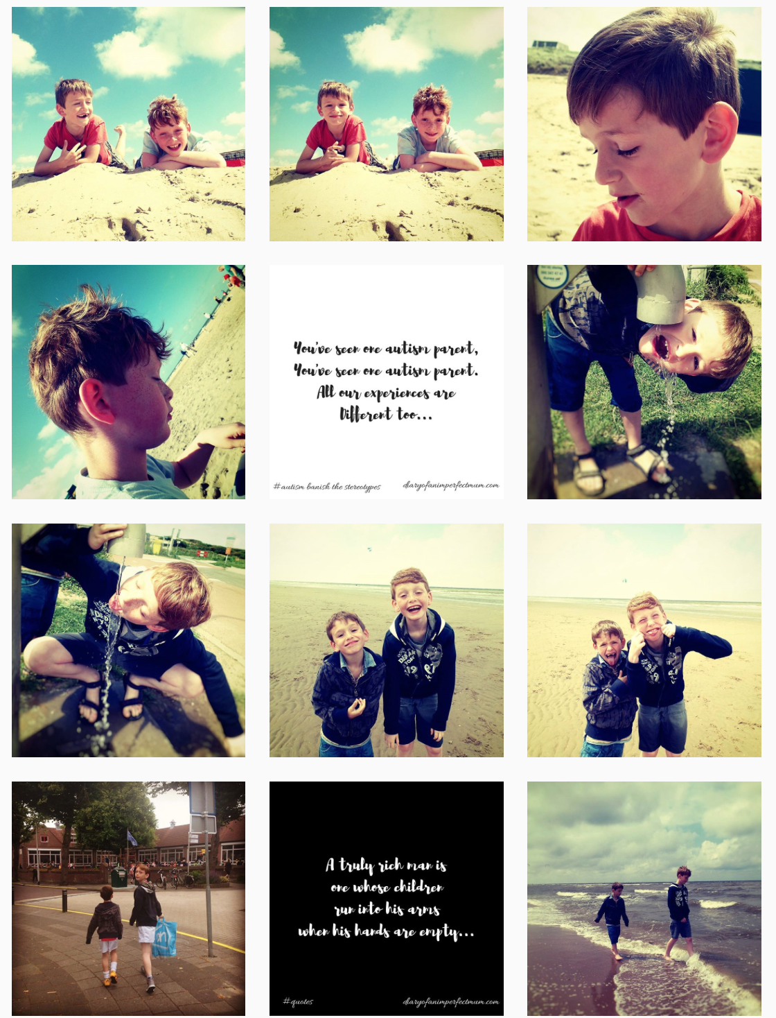 photo montage of our week. Boys playing at the beach