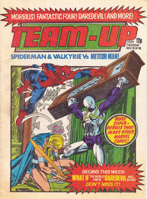 Marvel Team Up # 10, Marvel UK, Spider-Man and the Valkyrie