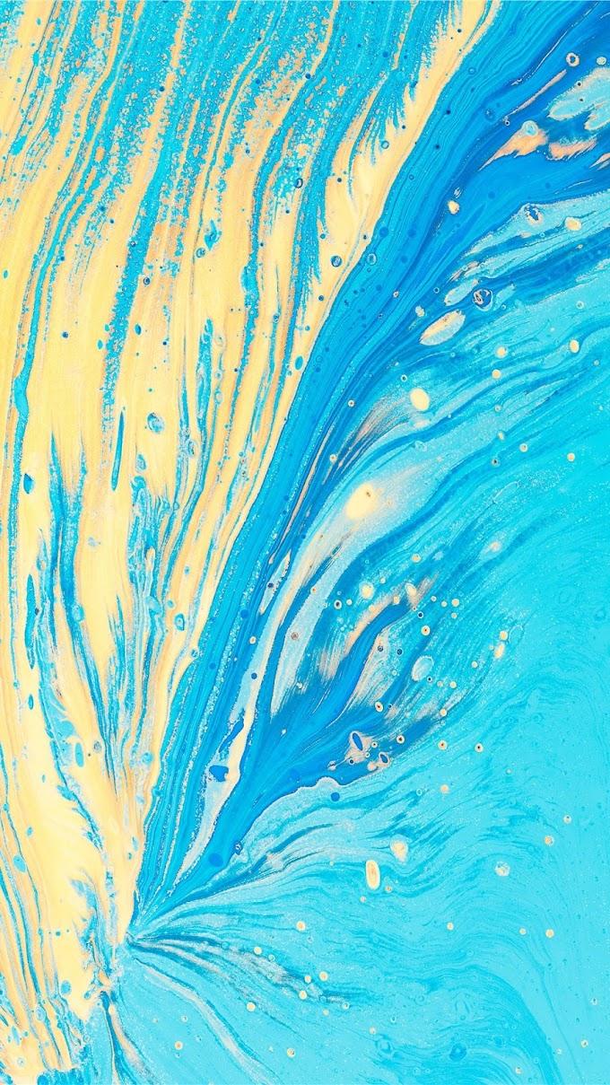 Papel de Parede Celular Abstrato Azul e Amarelo