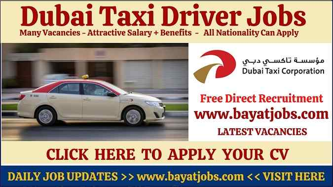 Dubai Taxi Driver Jobs 2020 Walk In Interview