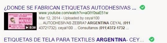Envio Provincias Argentinas Etiquetas adhesivas 100X35