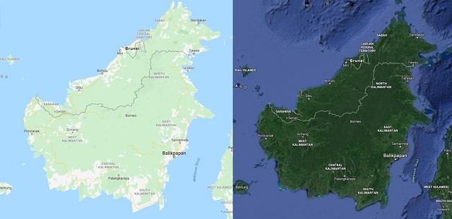 gambar peta pulau kalimantan
