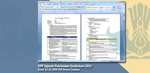 RPP Sejarah Peminatan Kelas 10 (X) SMA-MA Kurikulum 2013 Revisi Terbaru Tahun 2019-2020