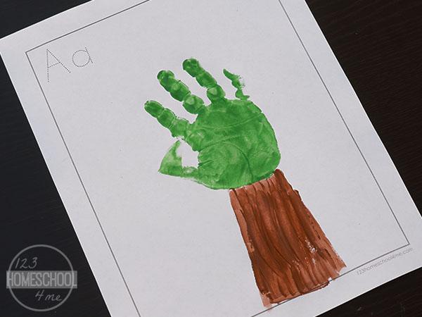 a is for apple craft for toddler, preschool, prek, kindergarten