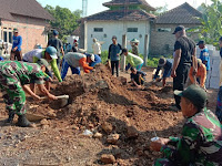 Danramil 0810/16 Sukomoro Pimpin Pembangunan TPQ