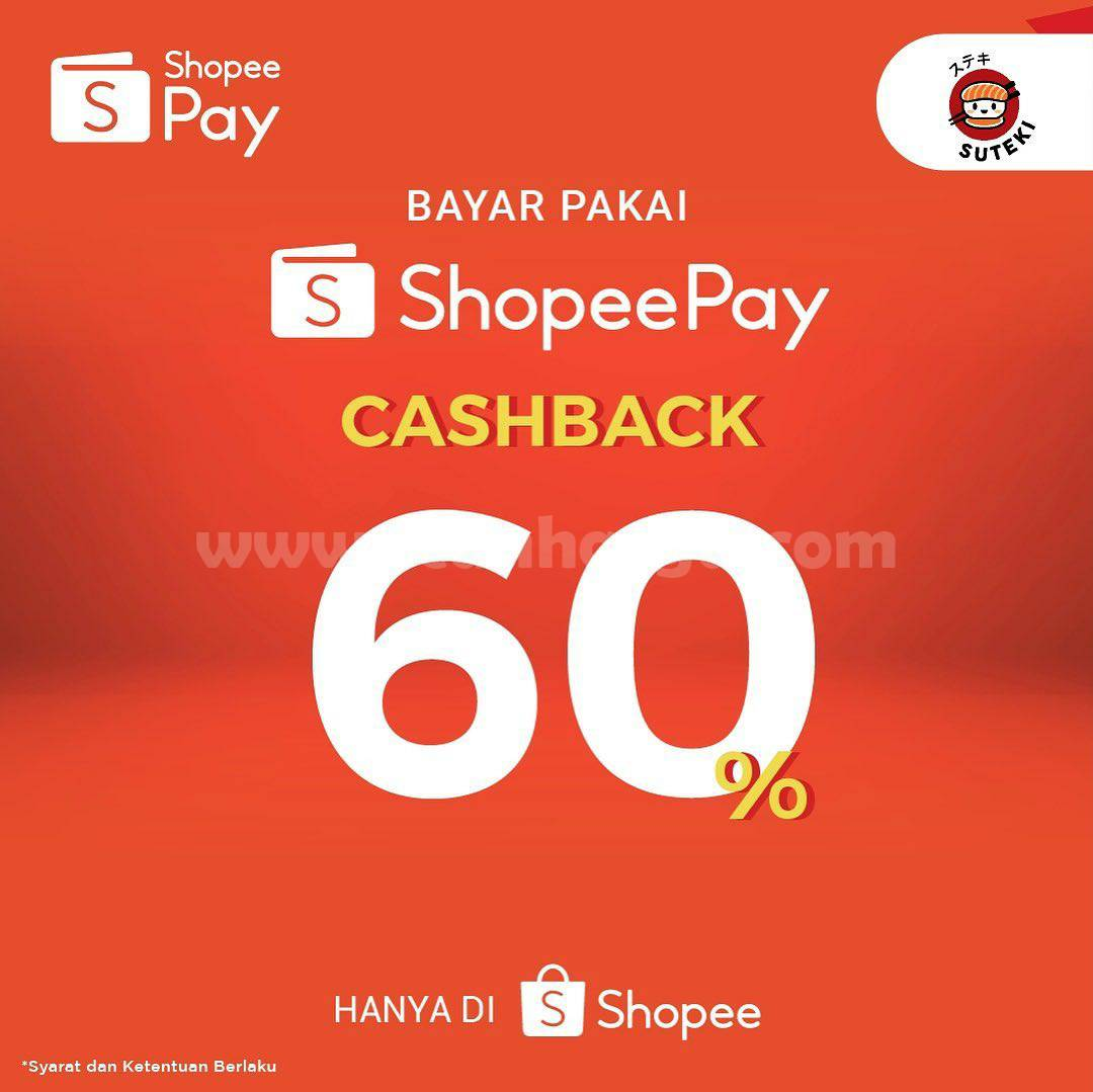 SUTEKI SUSHI Promo Cashback 60% dengan Voucher Deal ShopeePay