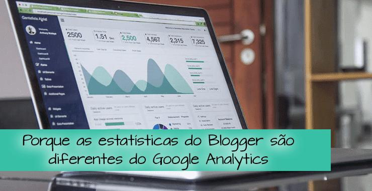 estatísticas do Blogger e do Google Analytics
