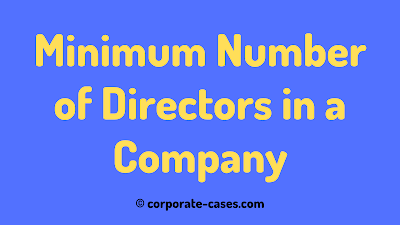 minimum number of directors in private company