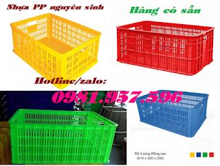 Sọt nhựa HS014, sọt nhựa cao 25cm, sọt nhựa công nghiệp