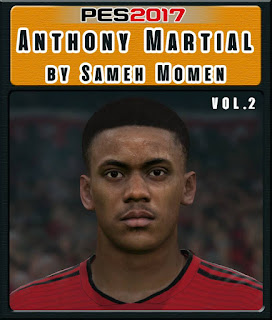 PES 2017 Faces Anthony Martial by Sameh Momen