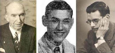 Los ajedrecistas españoles Manuel Golmayo, Román Torán y Antonio Medina