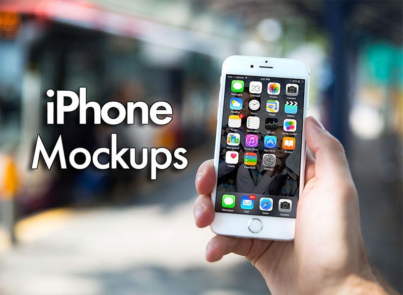 85+ Free iPhone 6 & iPhone 6 Plus Mockup PSD 2017