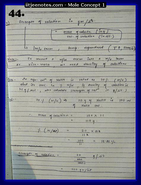 Mole Concept Notes IITJEE12