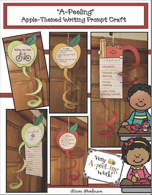A perfect craft for September and your apple themed writing center. #TpT