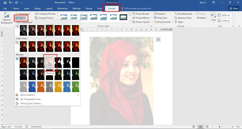Cara membuat gambar transparan pada Microsoft WORD  DODO