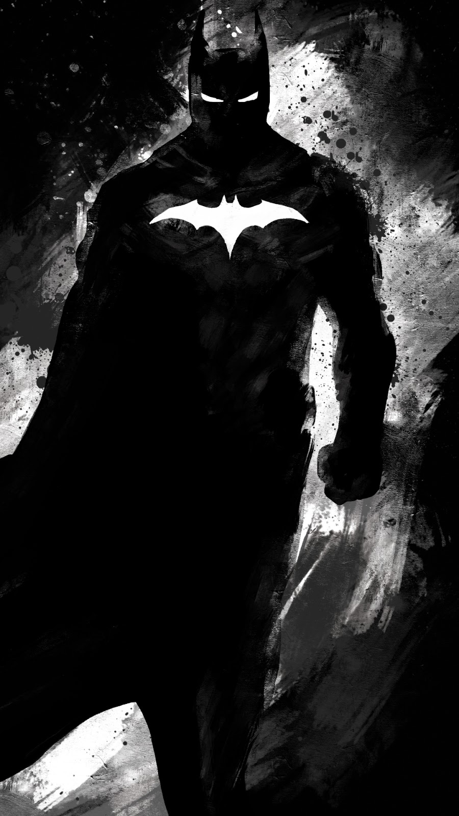 Batman Digital Art Black & White