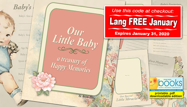 "Download Annie Lang's vintage inspired ""Our Little Baby"" .pdf book for FREE through January 2020"