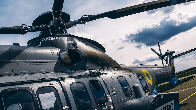 Нагвардія отримала третій гелікоптер Super Puma (ВІДЕО)