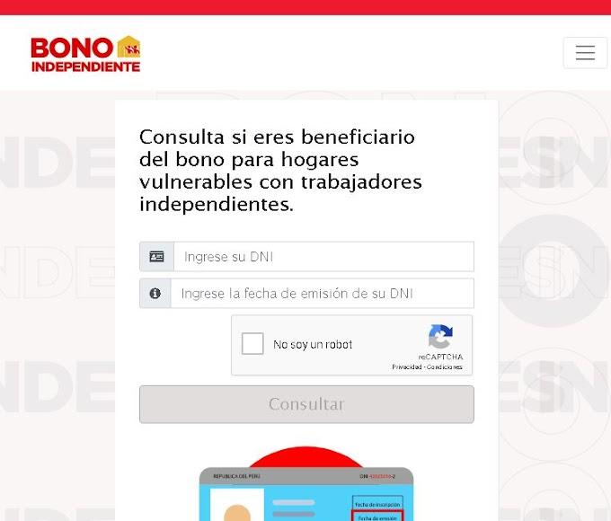 Coronavirus en Perú: Consulta aquí si tu hogar es beneficiario del bono de S/380 para Independientes