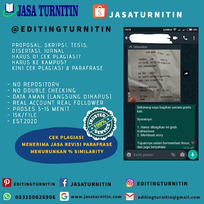 Jasa Cek Plagiarisme Turnitin Di Kalimantan Selatan