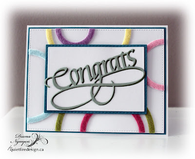 Diana Nguyen, Congrats, Quietfire Design, Rainbow Sky, Elizabeth Craft Designs