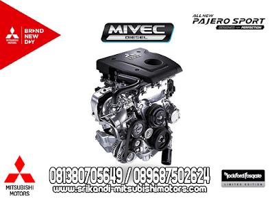 Mesin Diesel 4N15 2.4L MIVEC Turbocharger dan Intercooler menghasilkan tenaga yang besar bisa mencapai 181 PS pada 3.500rpm. Dilengkapi dengan Teknhologi VGT yang mempu mengoptimalkan kinerja turbin sehingga mesin semakin prima dan tangguh serta efisiensi pada bahan bakar.