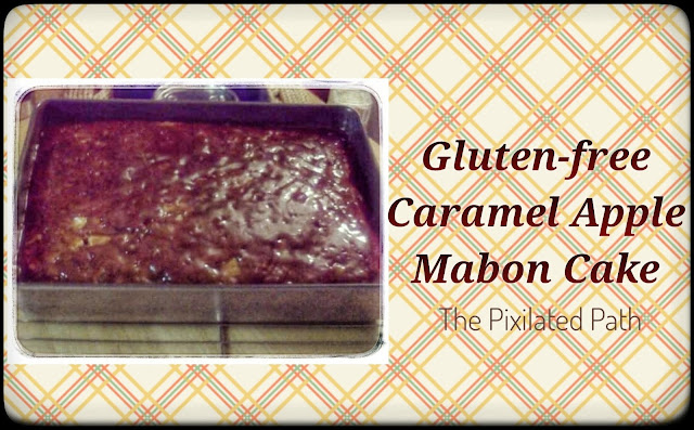 Post header for Gluten-Free Caramel Apple Mabon Cake Recipe