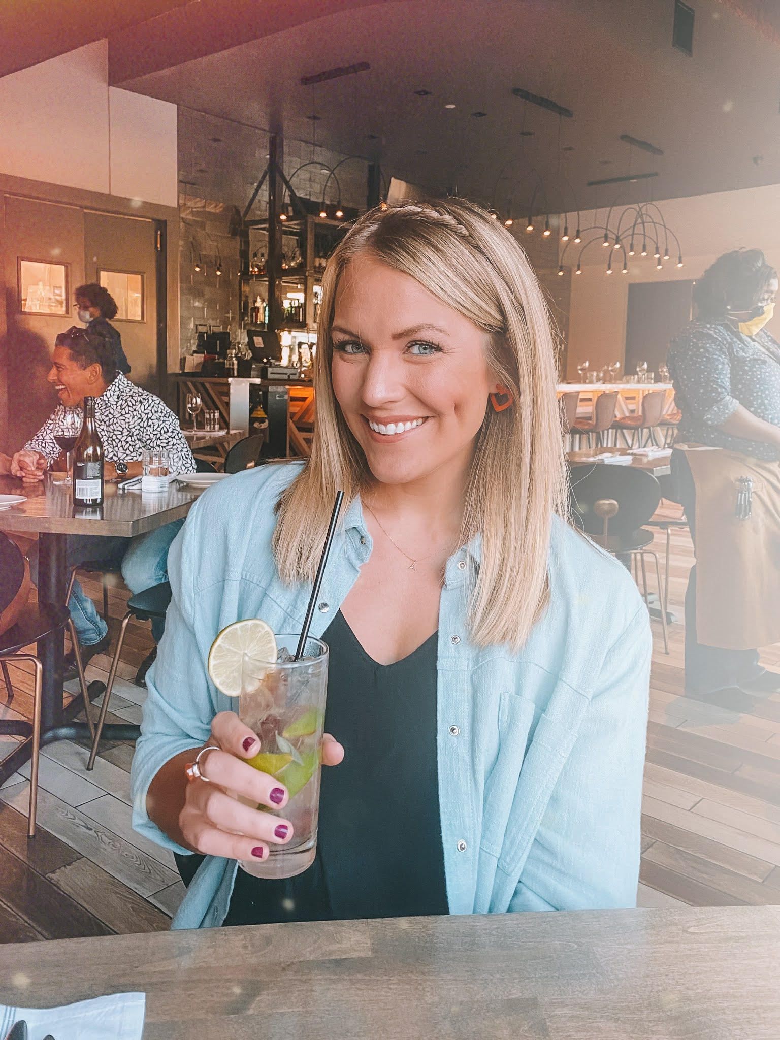 OKC blogger Amanda's OK sipping a cocktail at Black Walnut on date night