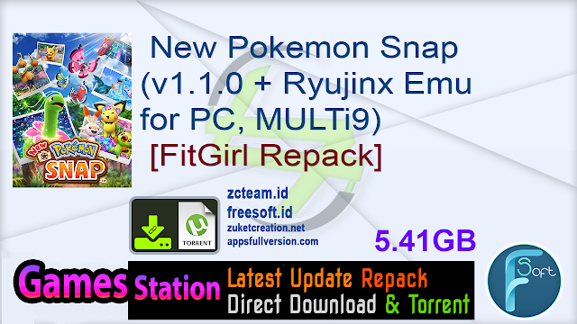 New Pokemon Snap (v1.1.0 + Ryujinx Emu for PC, MULTi9) [FitGirl Repack]
