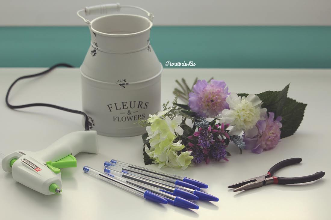 Bolígrafos con forma de flor Materiales
