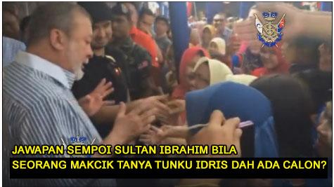 sultan ibrahim, jawapan sultan ibrahim, kata-kata sultan ibrahim