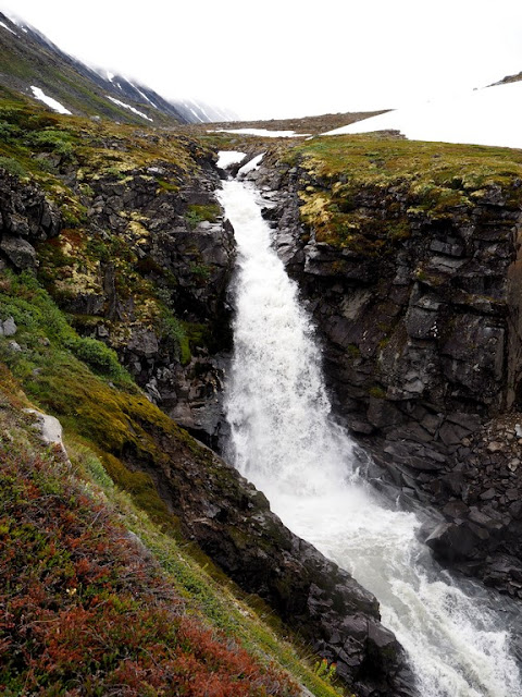 Vodopád, Jotunheimen, Norsko, trek, příroda