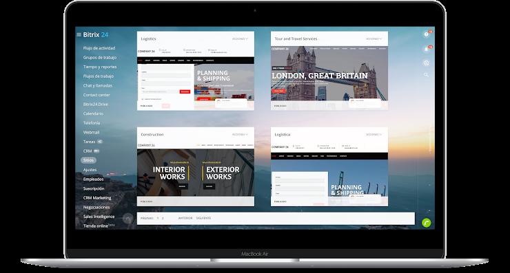 Crear sitio web con Bitrix24