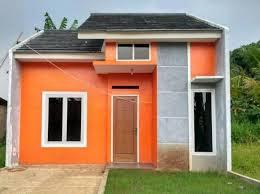 Desain Terbaru Kombinasi Warna Cat Orange Rumah Minimalis Tampilan stylish dan modern 1