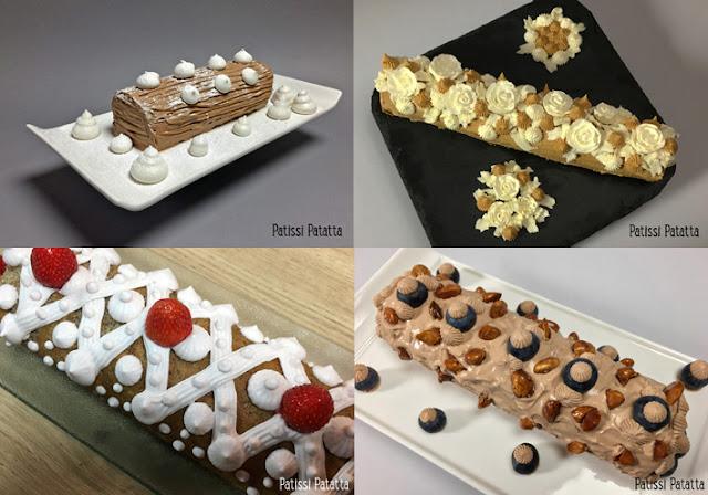 recette de bûches pâtissières, bûches de Noël, pâtisserie, fêtes, patissi-patatta